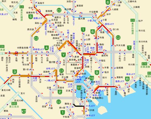 一般道路や高速道路の渋滞情報